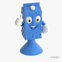 milk toys-stickies iges 3D model