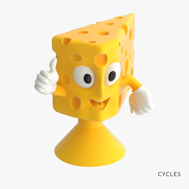 cheese toys-stickies iges 3D model