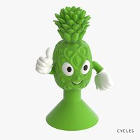 3D pineapple toys-stickies iges