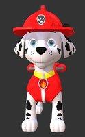 marshall paw patrol ar 3D model