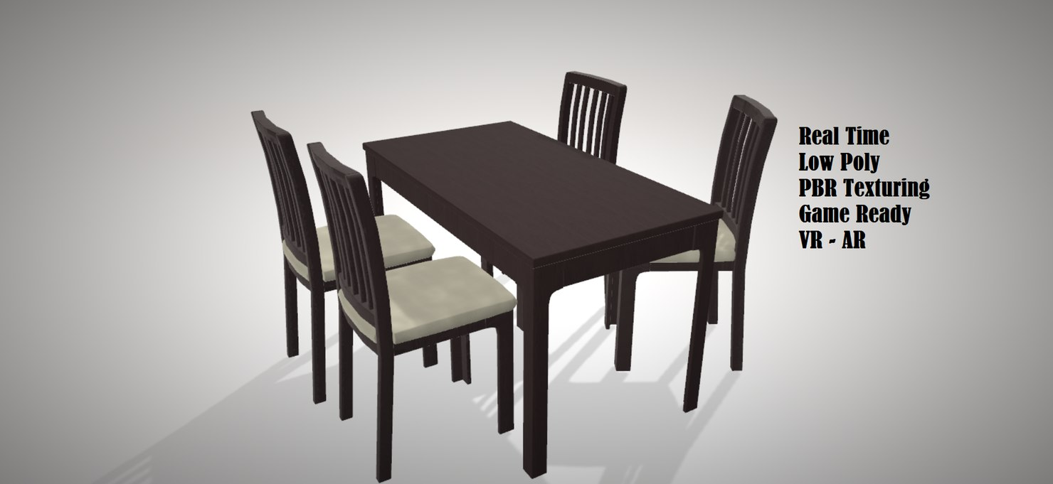 table chair modern style 3D model