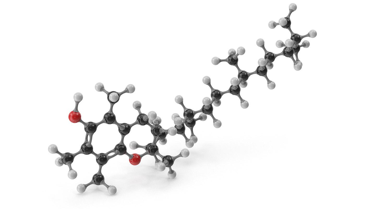 3D alpha-tocopherol molecular e
