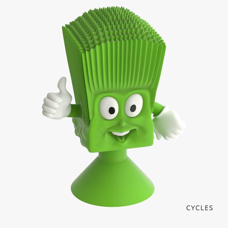 3D green onion