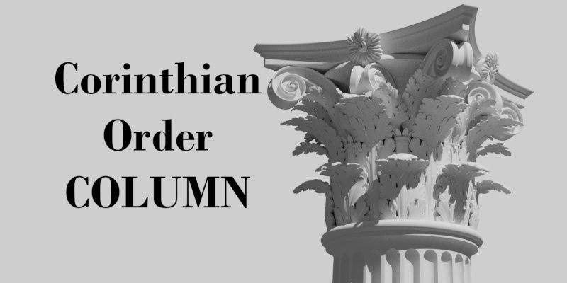 corinthian order column 3D model