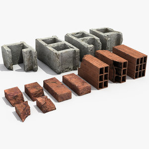 3D bricks debris model
