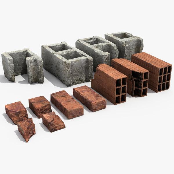 3D bricks debris model