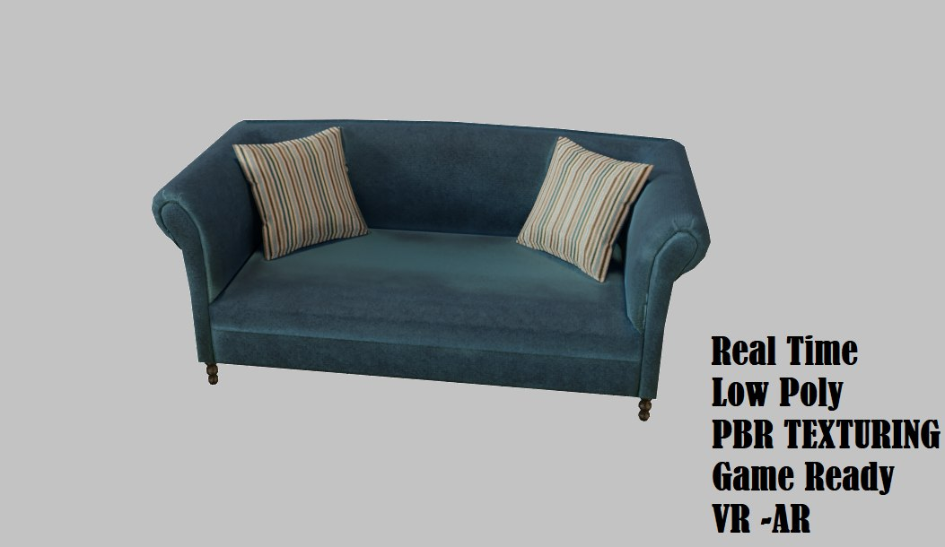 sofa french edition style 3D