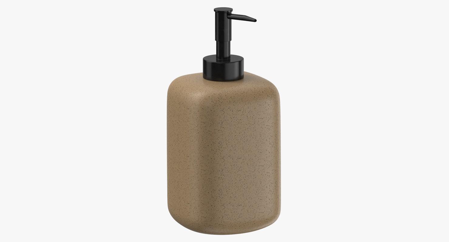 soap dispenser 01 3D model