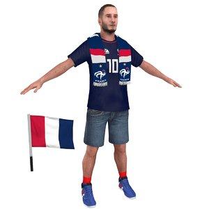 3D model soccer fan