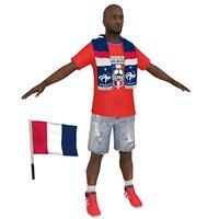 soccer fan 3D