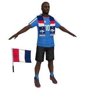 3D soccer fan 3 model
