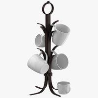 3D kitchen mug tree model