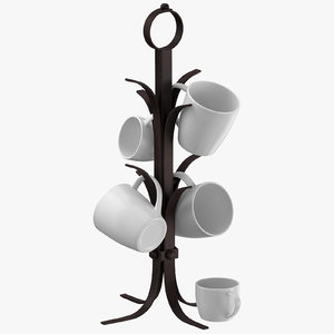 3D kitchen mug tree model