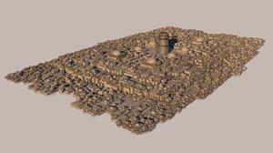 3D model arab-style city buildings