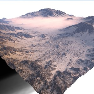 snowy terrain 3D
