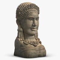 Sculpture Girl Head Bali
