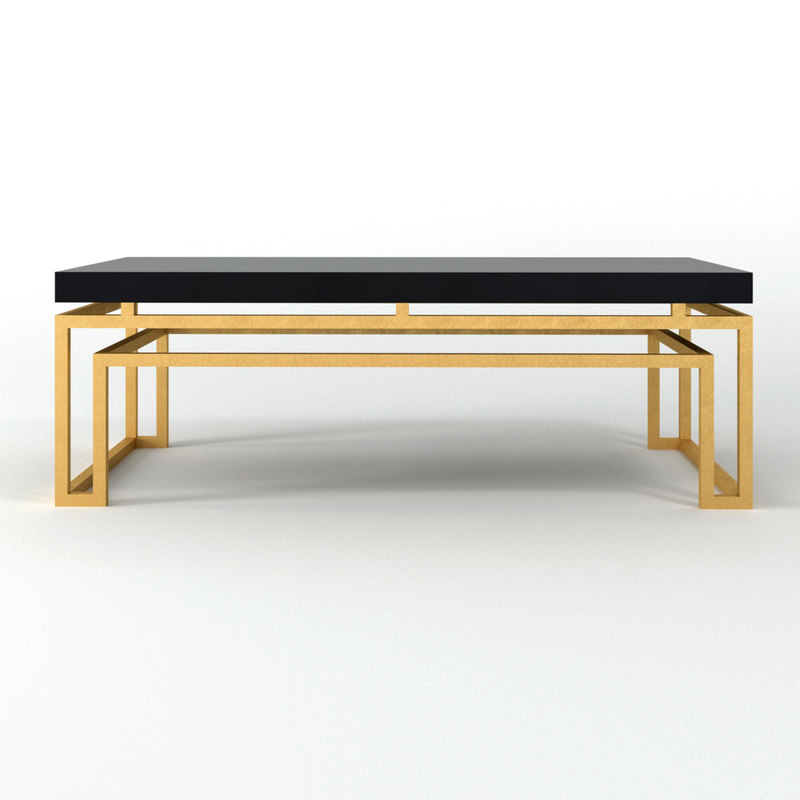 3D serendipity rectangle cocktail table