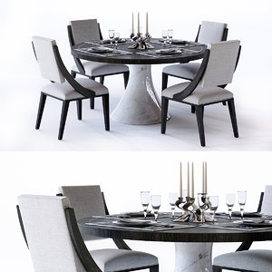 3D decorage dining table