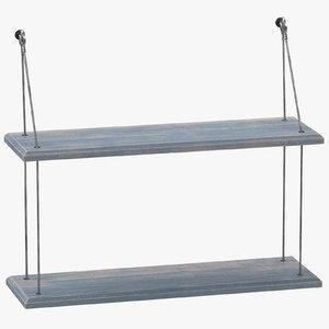 3D model shelf 02