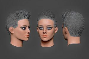 3D woman head 3