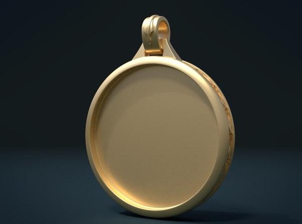 3D pendant ornament model