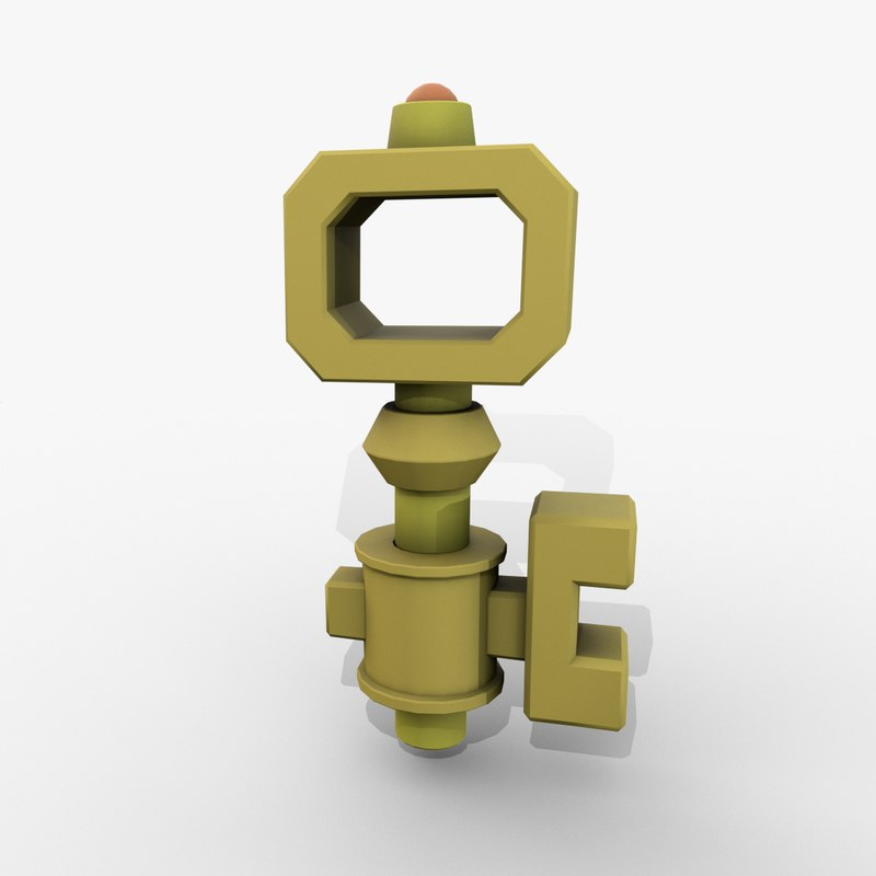 3D key cartoon