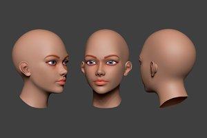 woman head 4 3D model