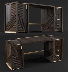 vintage desk 3D