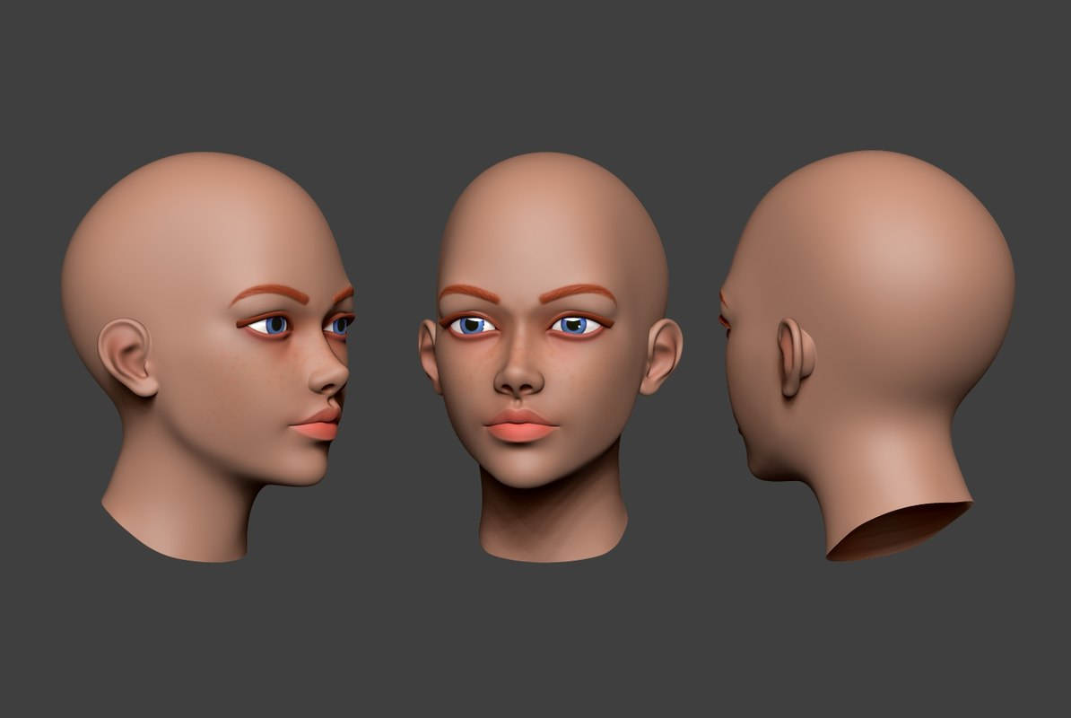 woman head 5 3D