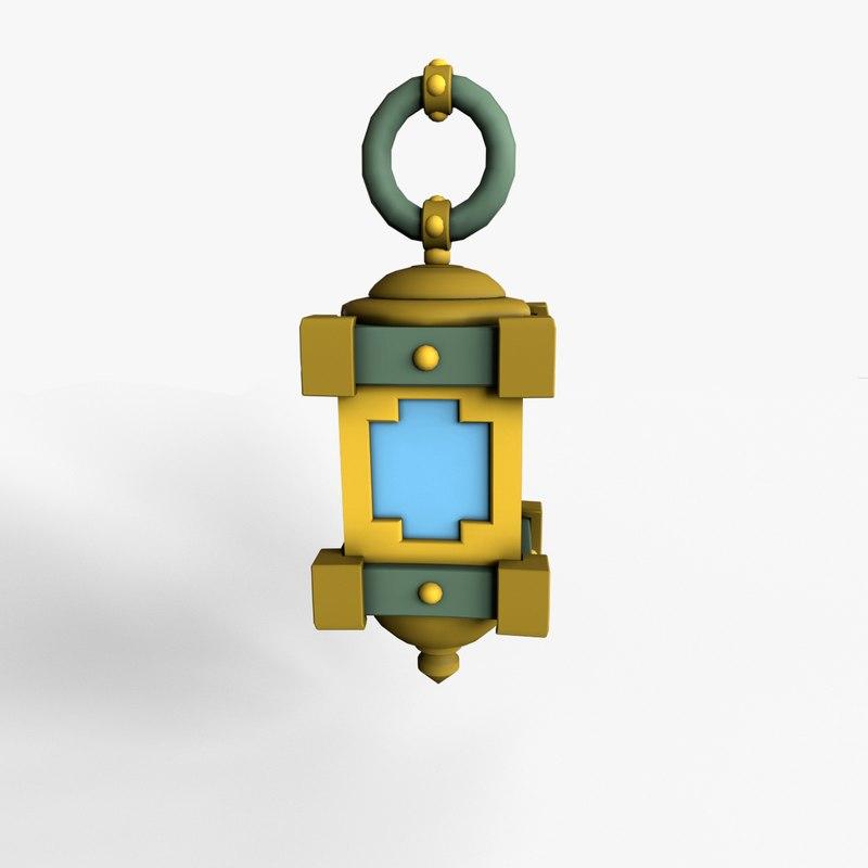 3D cartoon lamp model