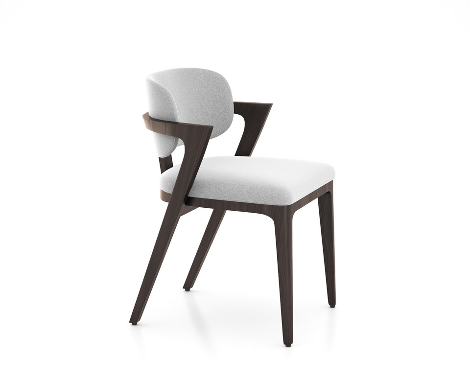 3D model adam court upholstered dining chair