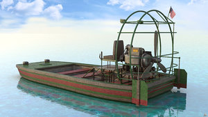 airboat air boat 3D model