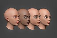 woman heads model