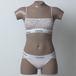 3D model lingerie mannequin