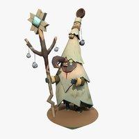3D spirits forest cartoon charther