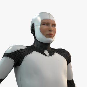 humans android cyborg animation 3D model