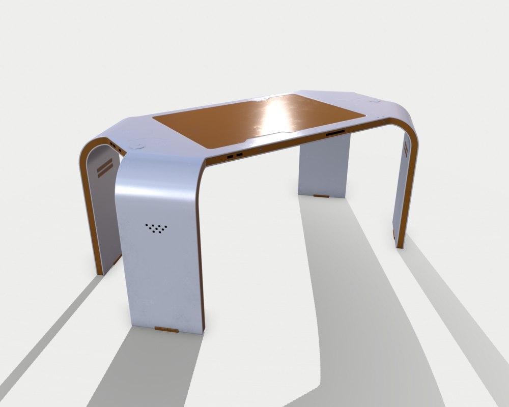 3D table sci fi 01