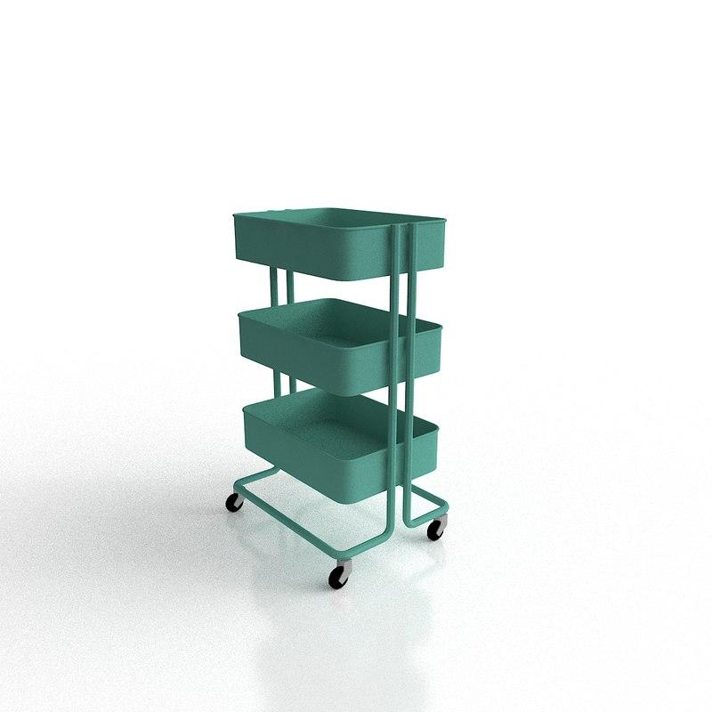 kitchen serving cart 3D model