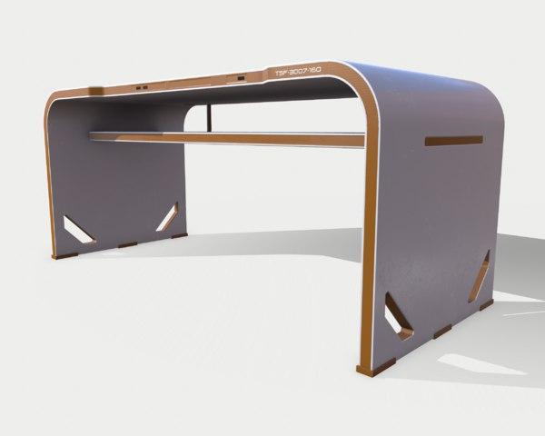 table sci fi 02 3D model
