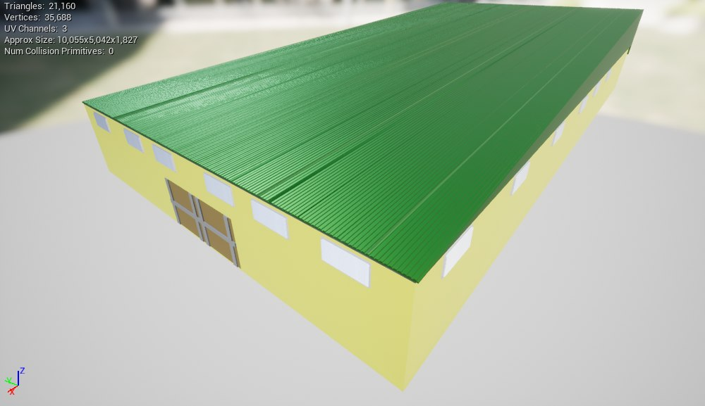 3D small factory building