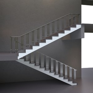 stair stainless 3D model