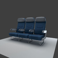airplane seat row model