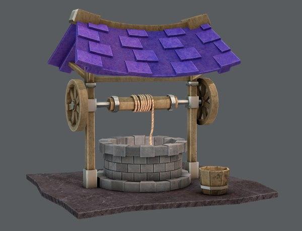 cartoon medieval 3D model