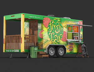 food trailer 3D
