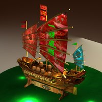 3D chinese treasure model