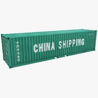 3D container 40ft china shipping model