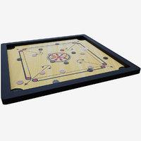 3D model carom board