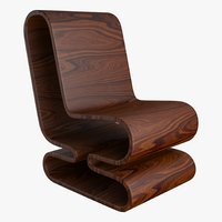 wood chair 3D