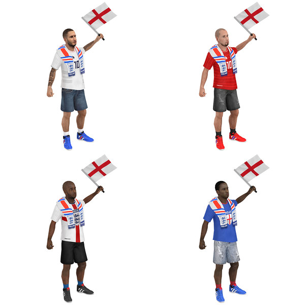 pack rigged soccer fan model
