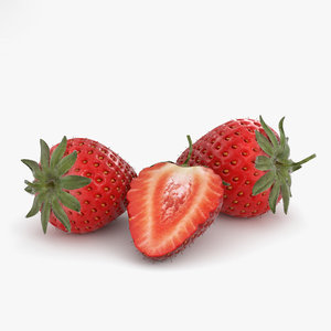 3D strawberry berry